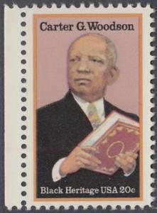 USA Michel 1678 / Scott 2073 postfrisch EINZELMARKE RAND links - Schwarzamerikanisches Erbe: Carter G. Woodson, Historiker