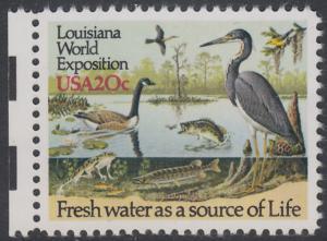 USA Michel 1694 / Scott 2086 postfrisch EINZELMARKE RAND links (a2) - Louisiana-Weltausstellung, New Orleans - Gewässerschutz