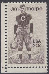 USA Michel 1697 / Scott 2089 postfrisch EINZELMARKE ECKRAND unten links - Sportler: James Francis -Jim- Thorpe (1887-1953), Leichtathlet, Football- und Baseballspieler