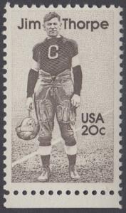 USA Michel 1697 / Scott 2089 postfrisch EINZELMARKE RAND unten - Sportler: James Francis -Jim- Thorpe (1887-1953), Leichtathlet, Football- und Baseballspieler