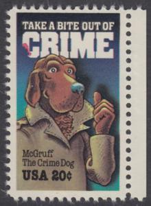 USA Michel 1712 / Scott 2102 postfrisch EINZELMARKE RAND rechts - Verbrechensvorbeugung