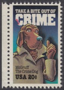 USA Michel 1712 / Scott 2102 postfrisch EINZELMARKE RAND links - Verbrechensvorbeugung