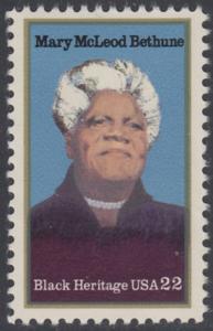 USA Michel 1729 / Scott 2137 postfrisch EINZELMARKE - Schwarzamerikanisches Erbe: Mary McLeod Bethun, Lehrerin