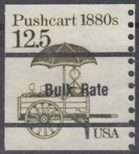 USA Michel 1748 / Scott 2133 postfrisch EINZELMARKE precancelled (a06) - Fahrzeuge: Handkarren