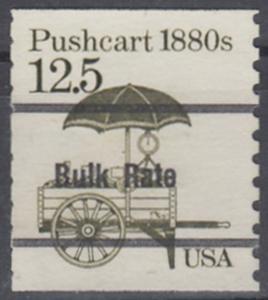 USA Michel 1748 / Scott 2133 postfrisch EINZELMARKE precancelled (a04) - Fahrzeuge: Handkarren