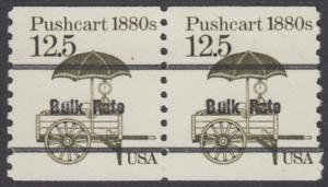 USA Michel 1748 / Scott 2133 postfrisch horiz.PAAR precancelled (a01) - Fahrzeuge: Handkarren