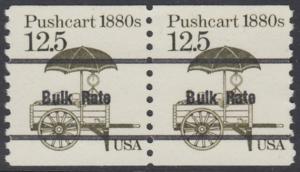USA Michel 1748 / Scott 2133 postfrisch horiz.PAAR precancelled (a03) - Fahrzeuge: Handkarren
