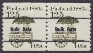 USA Michel 1748 / Scott 2133 postfrisch horiz.PAAR precancelled (a02) - Fahrzeuge: Handkarren