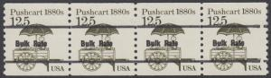 USA Michel 1748 / Scott 2133 postfrisch horiz.STRIP(4) precancelled (a01) - Fahrzeuge: Handkarren