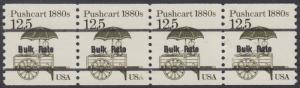 USA Michel 1748 / Scott 2133 postfrisch horiz.STRIP(4) precancelled (a02) - Fahrzeuge: Handkarren