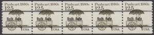 USA Michel 1748 / Scott 2133 postfrisch horiz.STRIP(5) precancelled - Fahrzeuge: Handkarren