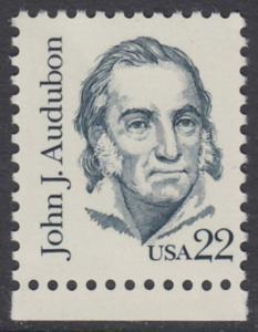 USA Michel 1749 / Scott 1863 postfrisch EINZELMARKE RAND unten - Amerikanische Persönlichkeiten: John James Audubon (1785-1851), Zeichner