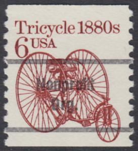 USA Michel 1751 / Scott 2126 postfrisch / precancelled EINZELMARKE (a01) - Fahrzeuge: Dreirad