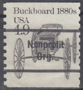USA Michel 1758 / Scott 2124 postfrisch EINZELMARKE precancelled (a3) - Fahrzeuge: Kutsche