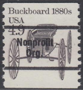 USA Michel 1758 / Scott 2124 postfrisch EINZELMARKE precancelled (a2) - Fahrzeuge: Kutsche