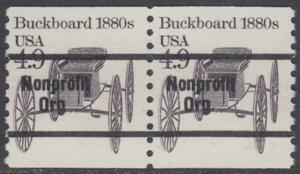USA Michel 1758 / Scott 2124 postfrisch horiz.PAAR precancelled (a1) - Fahrzeuge: Kutsche