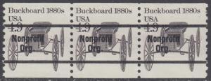 USA Michel 1758 / Scott 2124 postfrisch horiz.STRIP(3) precancelled - Fahrzeuge: Kutsche