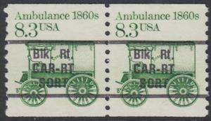 USA Michel 1759 / Scott 2128 postfrisch horiz.PAAR precancelled - Fahrzeuge: Krankenwagen