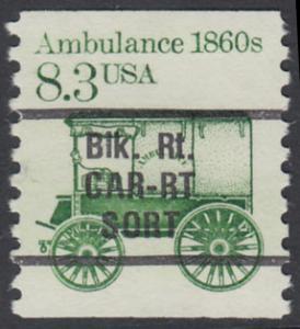 USA Michel 1759 / Scott 2128 postfrisch EINZELMARKE precancelled - Fahrzeuge: Krankenwagen