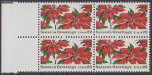 USA Michel 1779 / Scott 2166 postfrisch BLOCK RÄNDER links (a2) - Weihnachten: Poinsettia