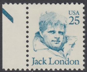 USA Michel 1782 / Scott 2182 postfrisch EINZELMARKE RAND links (a2) - Amerikanische Persönlichkeiten: Jack London (1876-1916), Schriftsteller