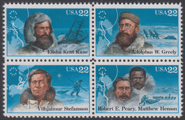 USA Michel 1835-1838 / Scott 2220-2223 postfrisch BLOCK - Nordpolarforscher 0