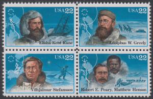 USA Michel 1835-1838 / Scott 2220-2223 postfrisch BLOCK - Nordpolarforscher