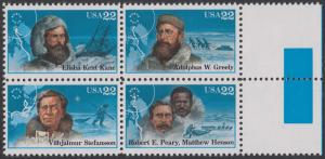 USA Michel 1835-1838 / Scott 2220-2223 postfrisch BLOCK RÄNDER rechts (a2) - Nordpolarforscher