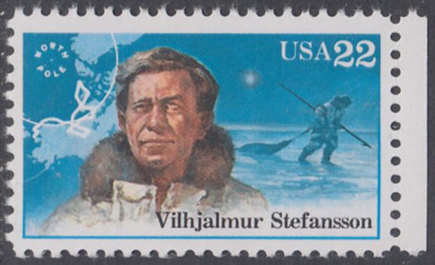 USA Michel 1837 / Scott 2222 postfrisch EINZELMARKE RAND rechts - Nordpolarforscher: Vilhjalmur Stefansson 0