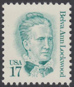 USA Michel 1839 / Scott 2178 postfrisch EINZELMARKE - Amerikanische Persönlichkeiten: Belva Ann Lockwood (1830-1917), Frauenrechtlerin
