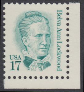 USA Michel 1839 / Scott 2178 postfrisch EINZELMARKE ECKRAND unten rechts - Amerikanische Persönlichkeiten: Belva Ann Lockwood (1830-1917), Frauenrechtlerin