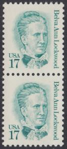 USA Michel 1839 / Scott 2178 postfrisch vert.PAAR - Amerikanische Persönlichkeiten: Belva Ann Lockwood (1830-1917), Frauenrechtlerin