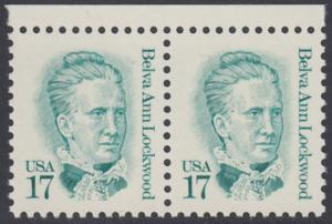 USA Michel 1839 / Scott 2178 postfrisch horiz.PAAR RÄNDER oben - Amerikanische Persönlichkeiten: Belva Ann Lockwood (1830-1917), Frauenrechtlerin