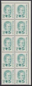USA Michel 1839 / Scott 2178 postfrisch vert.BLOCK(10) ECKRAND oben rechts - Amerikanische Persönlichkeiten: Belva Ann Lockwood (1830-1917), Frauenrechtlerin