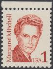 USA Michel 1840 / Scott 2168 postfrisch EINZELMARKE RAND oben - Amerikanische Persönlichkeiten: Margaret Mitchell (1900-1949), Schriftstellerin
