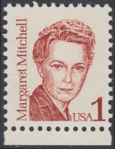 USA Michel 1840 / Scott 2168 postfrisch EINZELMARKE RAND unten - Amerikanische Persönlichkeiten: Margaret Mitchell (1900-1949), Schriftstellerin