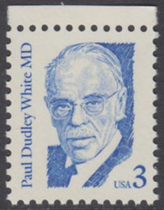 USA Michel 1849 / Scott 2170 postfrisch EINZELMARKE RAND oben - Amerikanische Persönlichkeiten: Paul Dudley White (1886-1973), Kardiologe