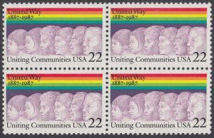 USA Michel 1881 / Scott 2275 postfrisch BLOCK - 100 Jahre Selbsthilfeorganisation United Way of America