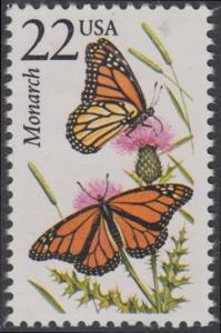 USA Michel 1884 / Scott 2287 postfrisch EINZELMARKE - Nordamerikanische Fauna: Monarchfalter