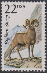 USA Michel 1885 / Scott 2288 postfrisch EINZELMARKE - Nordamerikanische Fauna: Dickhornschaf