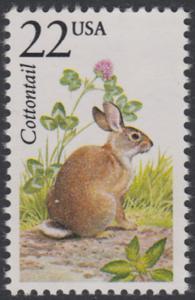 USA Michel 1887 / Scott 2290 postfrisch EINZELMARKE - Nordamerikanische Fauna: Florida-Waldkaninchen