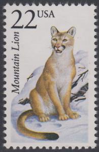 USA Michel 1889 / Scott 2292 postfrisch EINZELMARKE - Nordamerikanische Fauna: Puma