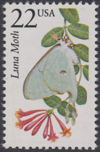 USA Michel 1890 / Scott 2293 postfrisch EINZELMARKE - Nordamerikanische Fauna: Mondspinner