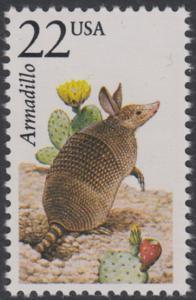 USA Michel 1893 / Scott 2296 postfrisch EINZELMARKE - Nordamerikanische Fauna: Neunbinden-Gürteltier