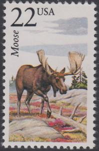 USA Michel 1895 / Scott 2298 postfrisch EINZELMARKE - Nordamerikanische Fauna: Elch