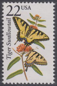 USA Michel 1897 / Scott 2300 postfrisch EINZELMARKE - Nordamerikanische Fauna: Schwalbenschwanz