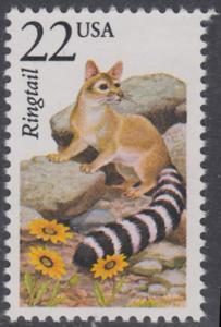 USA Michel 1899 / Scott 2302 postfrisch EINZELMARKE - Nordamerikanische Fauna: Nordamerikanisches Katzenfrett