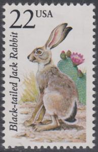 USA Michel 1902 / Scott 2305 postfrisch EINZELMARKE - Nordamerikanische Fauna: Kalifornischer Eselhase