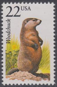 USA Michel 1904 / Scott 2307 postfrisch EINZELMARKE - Nordamerikanische Fauna: Waldmurmeltier