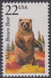 USA Michel 1907 / Scott 2310 postfrisch EINZELMARKE - Nordamerikanische Fauna: Kodiakbär